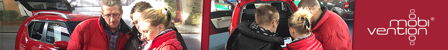 Banner mobivention im Autohaus Suzuki Ignis Promotion App