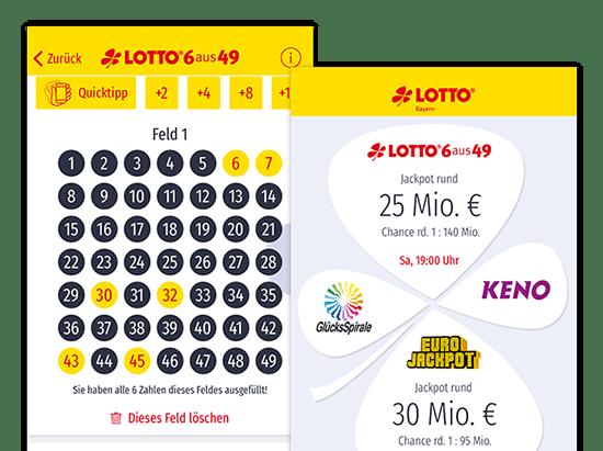 Detail Slider Lotto Bayern SÄPP Service App 1