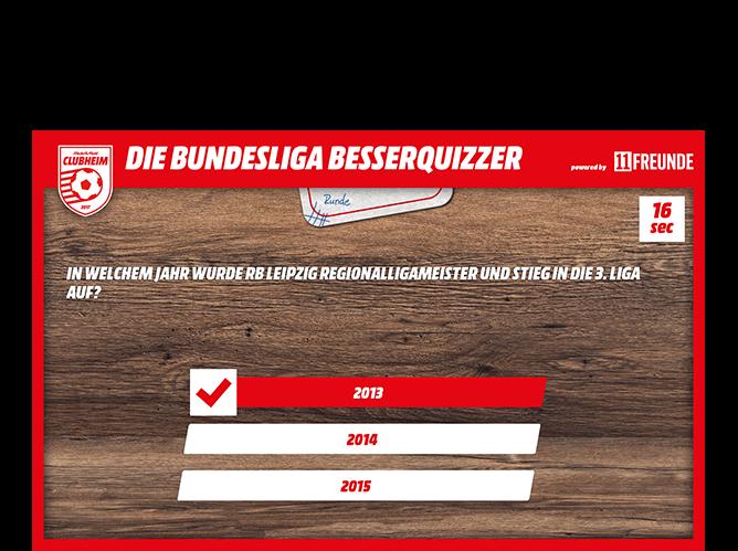 Beispiel Quizfragen Screen der umgesetzten Besserquizzer Quiz App für Permedia