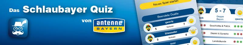 Banner Antenne Bayern Quiz App Schlaubayer