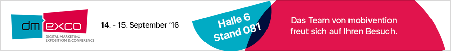 Banner dmexco Messe 2016