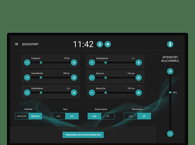 Quickstart Screen der umgesetzten Masterformer App für NOFFZ Computer Technik