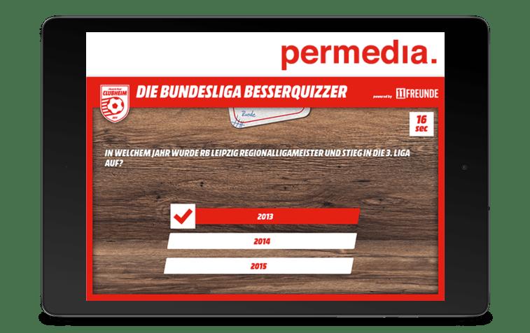 Bild Permedia Quiz App Tablet