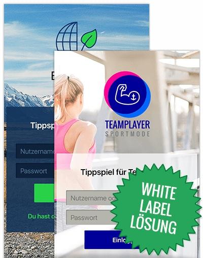 White Label Lösung App Beispiel Teamplayer