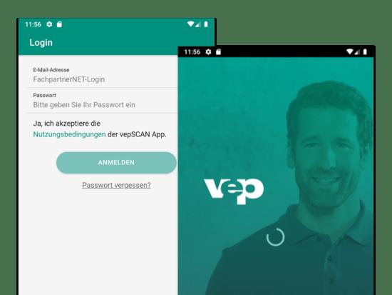 Login und Lade Screens der weiterentwickelten Loyalty App für Vaillant