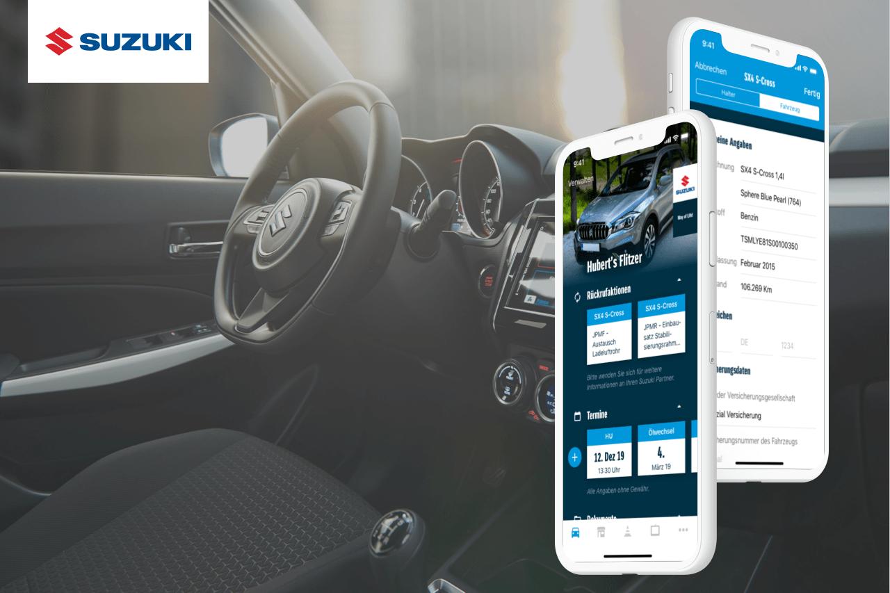 Referenzen Vorscha Suzuk Auto App