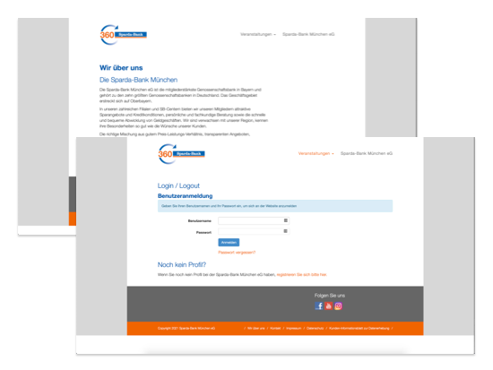Umgesetzte Sparda360 Website